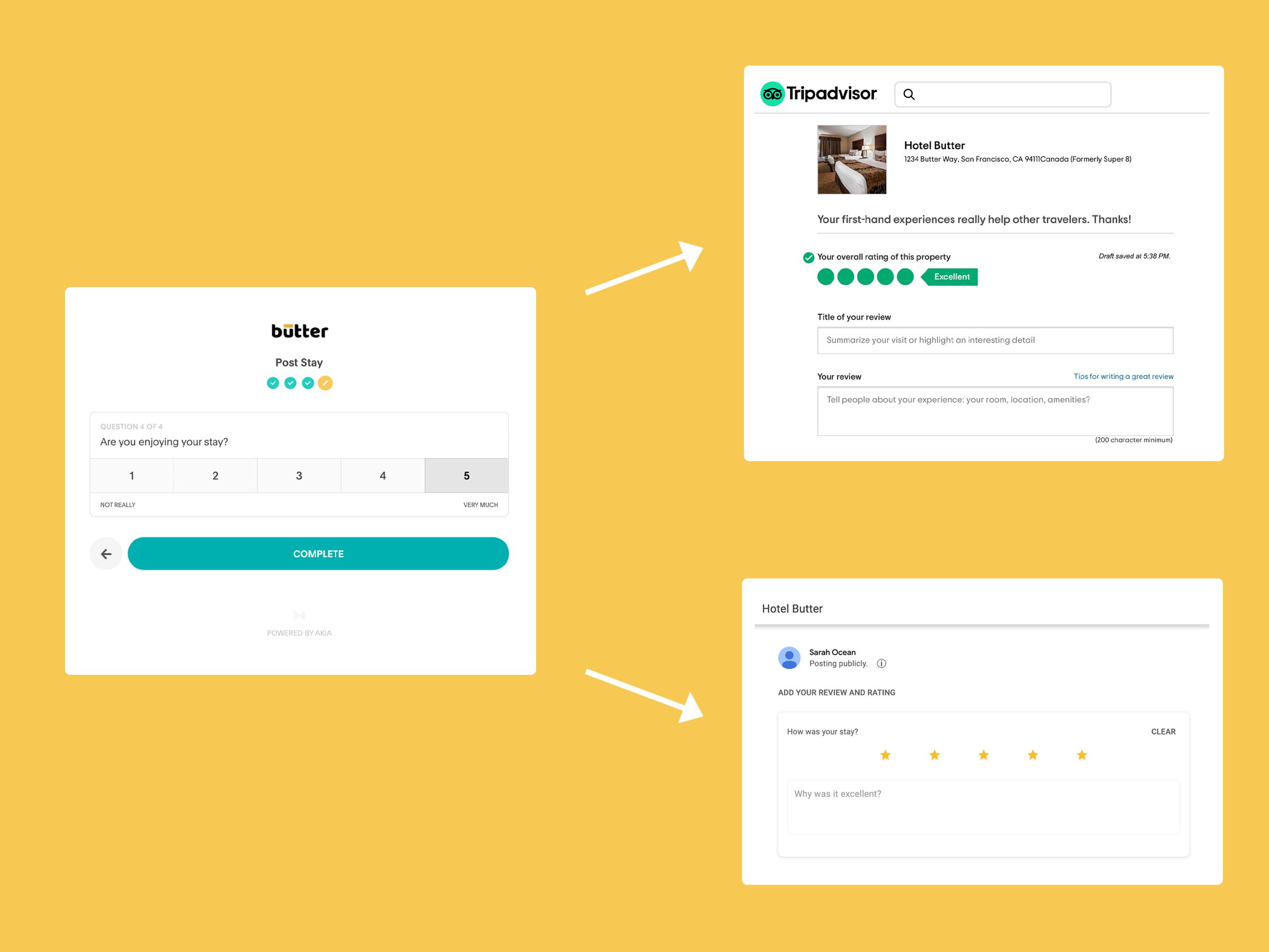 Akia's advanced review management drives positive reviews