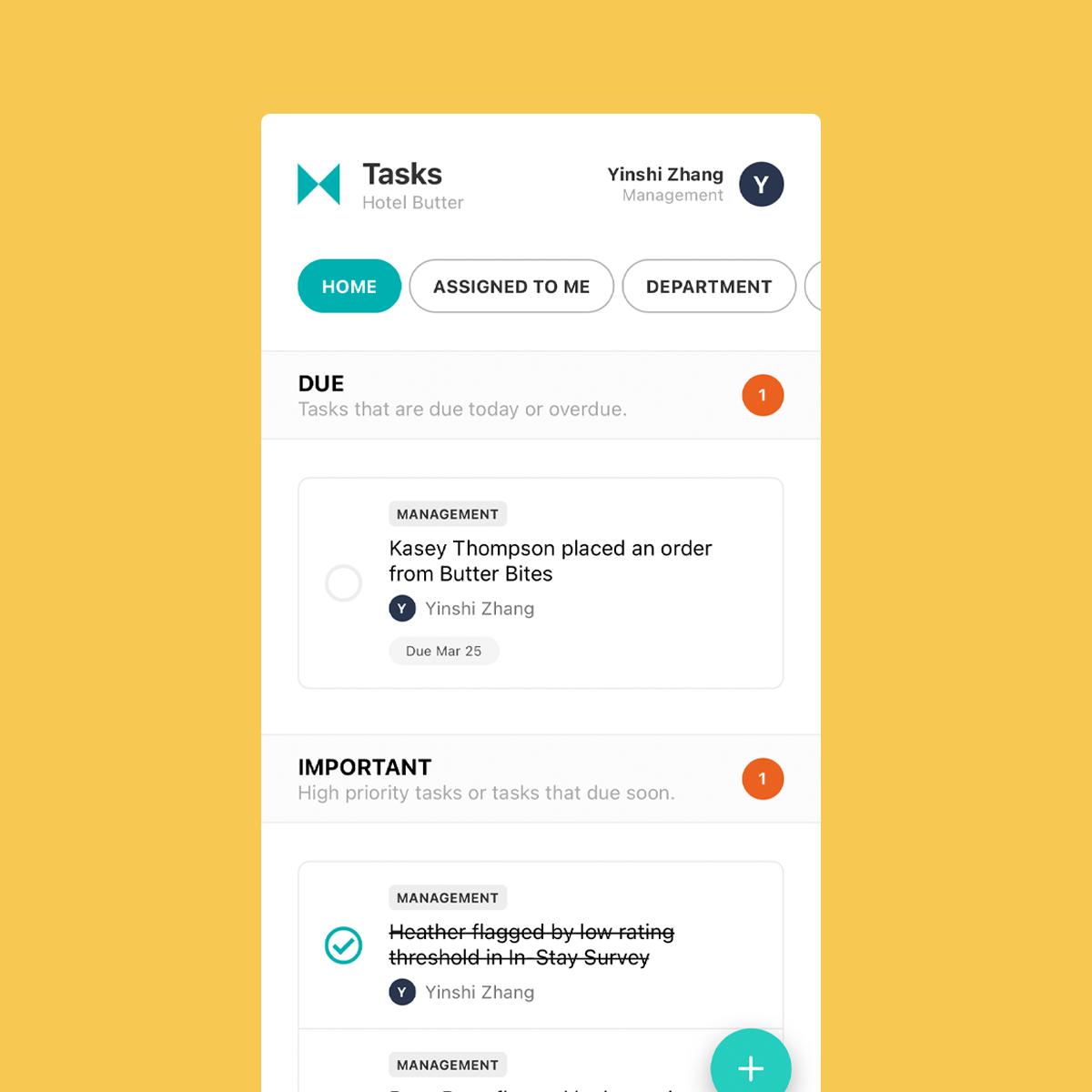 Akia new mobile tasks view