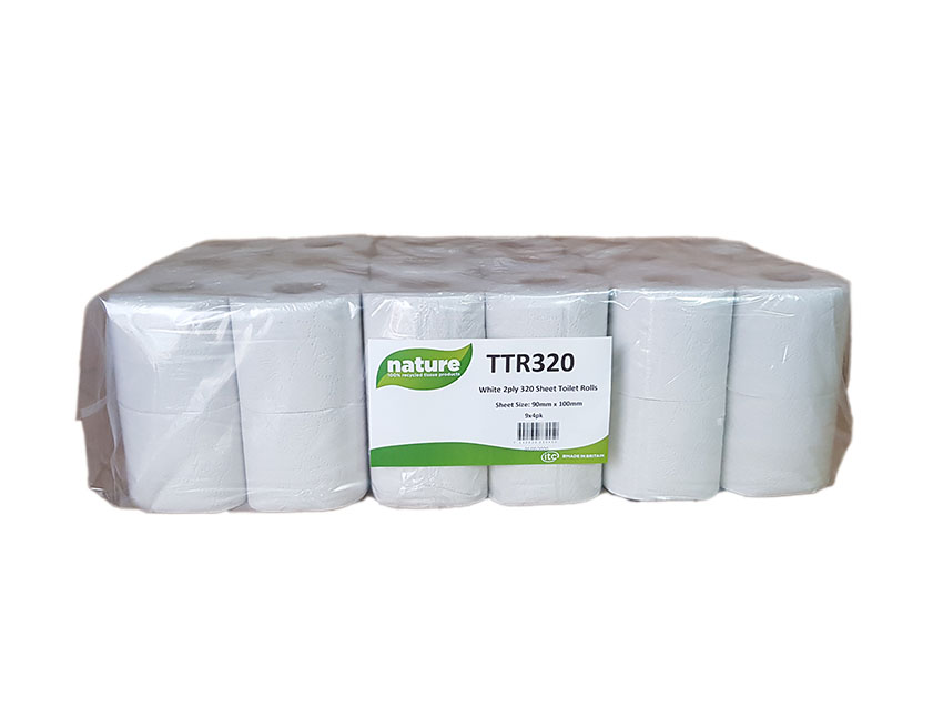 320 Sheet Toilet Tissue recycled