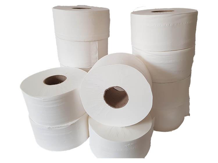 Mini Jumbo Toilet Rolls 200m (60mm Core) Pure