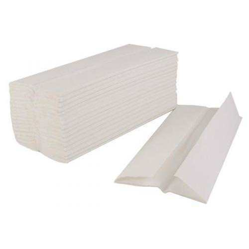White Paper Hand Towels C Fold 2 Ply  - Case of 2400 Sheets