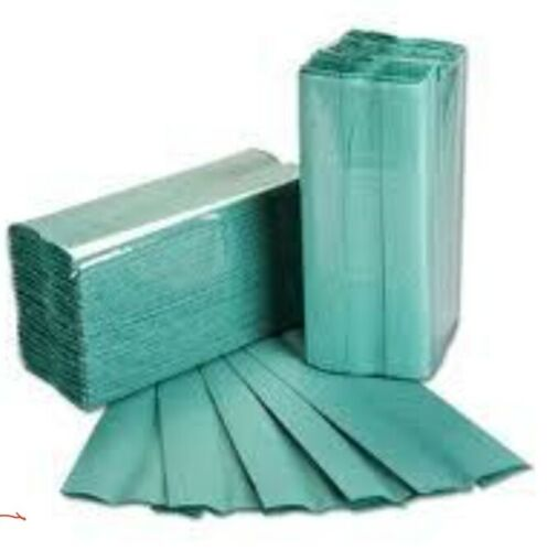 C Fold Green Paper Hand Towels Single Ply 2400pcs