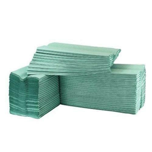 Z Fold 1-Ply Hand Towels - Green - Pack of 3000