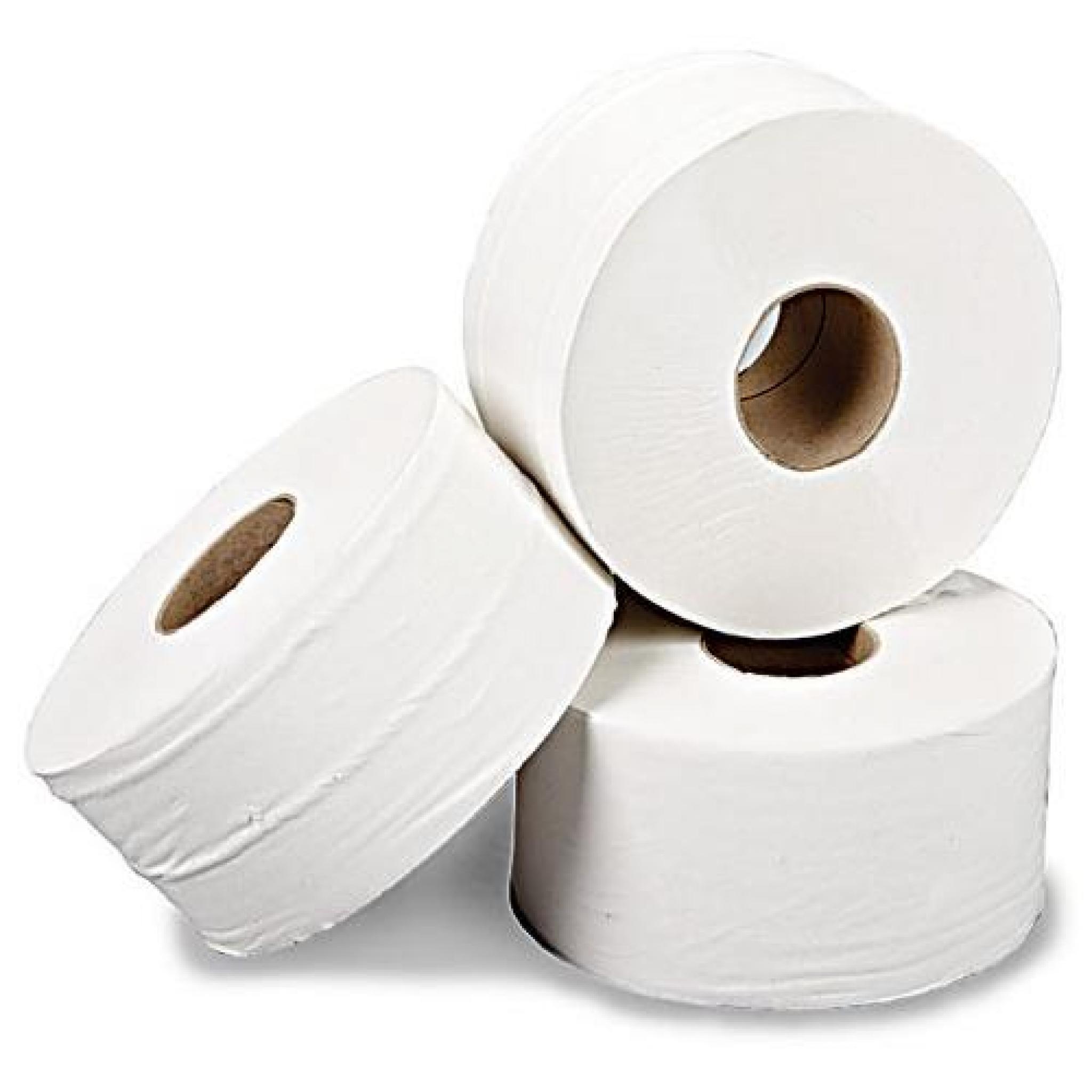 Mini Jumbo Toilet Rolls 150m (76mm Core) Recycled x 24 rolls