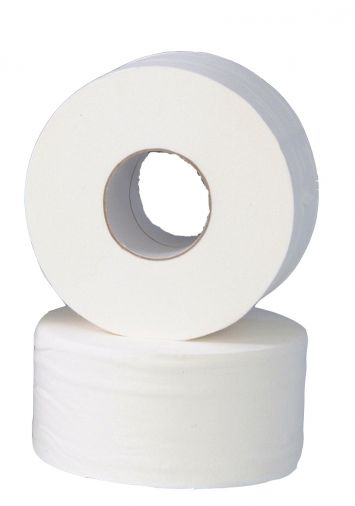 Mini Jumbo Toilet Rolls 150m (76mm Core) Pure Pulp x 24 rolls