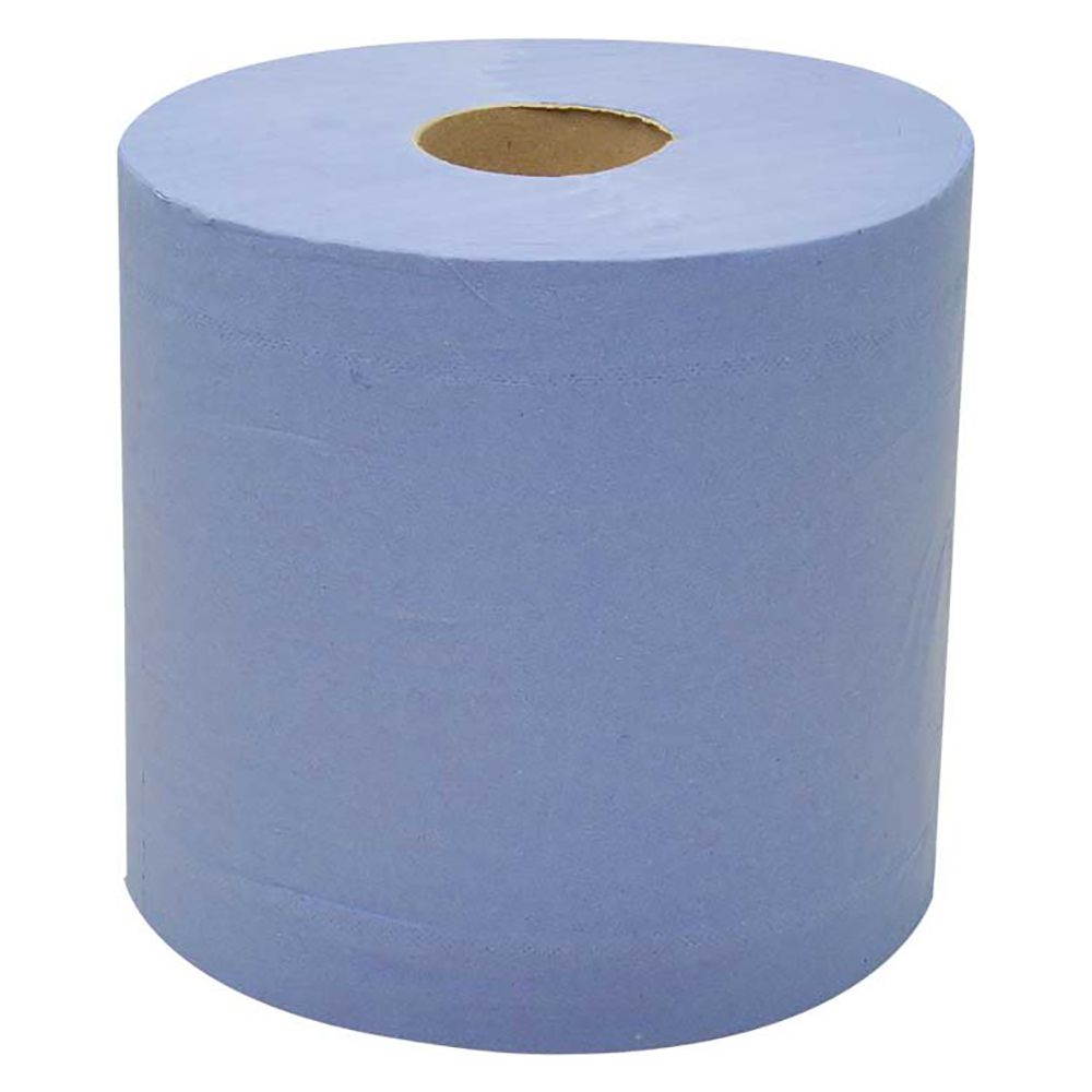 2 Ply Blue 150m Centrefeed Flat sheet x 12 Pack