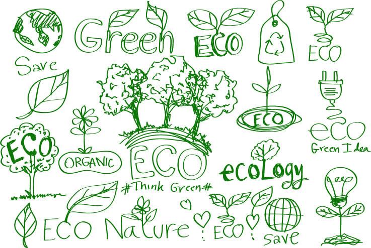 eco box nature doodle