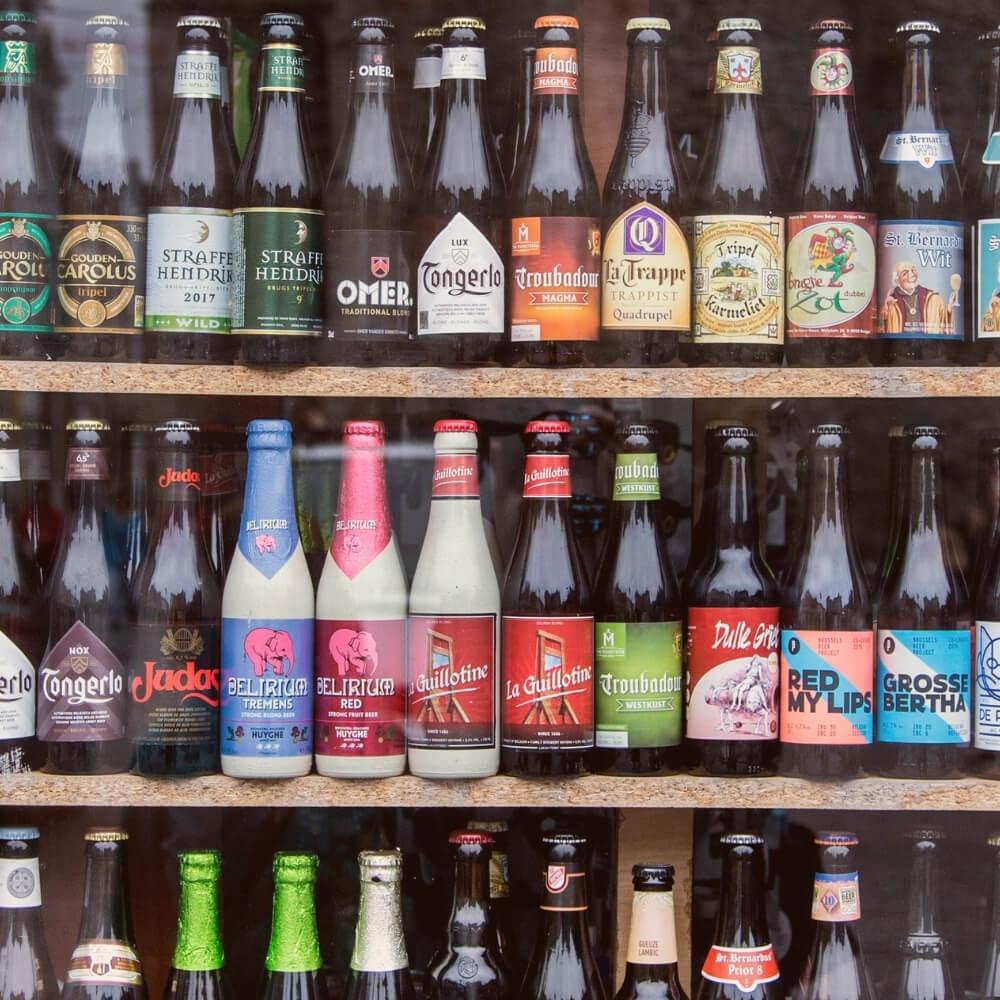 Collection of Belgian beers