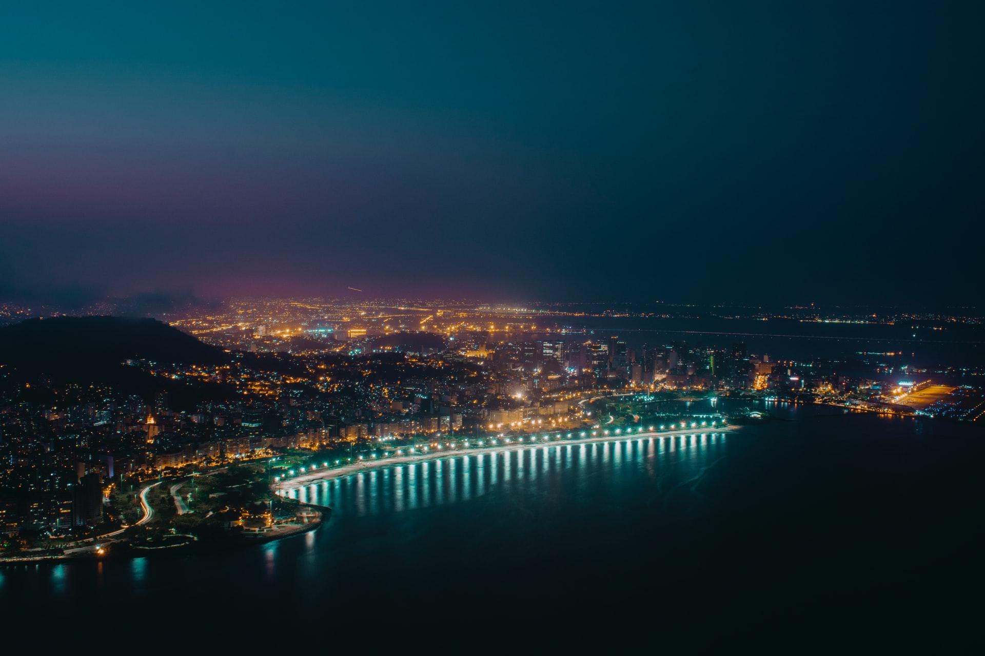 foto panorâmica da orla do Rio de Janeiro