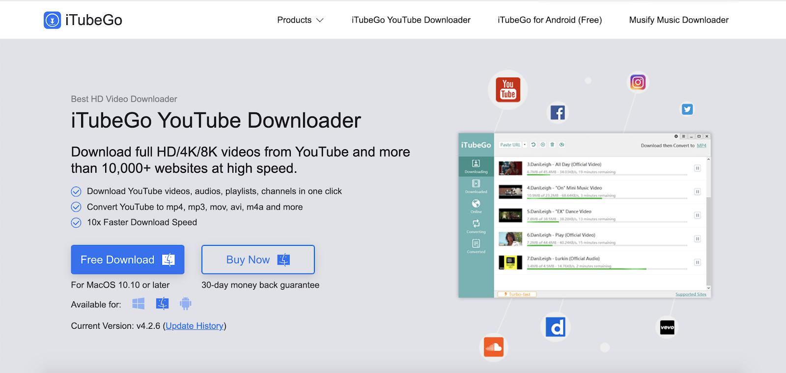 iTubeGo Best Top Youtube Downloader