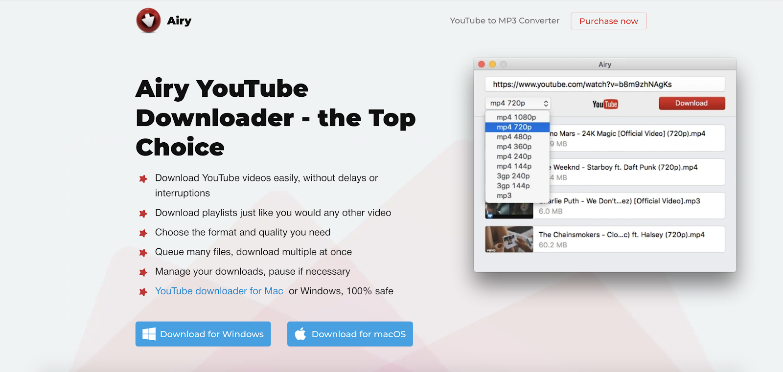 Airy Best Top Youtube Downloader