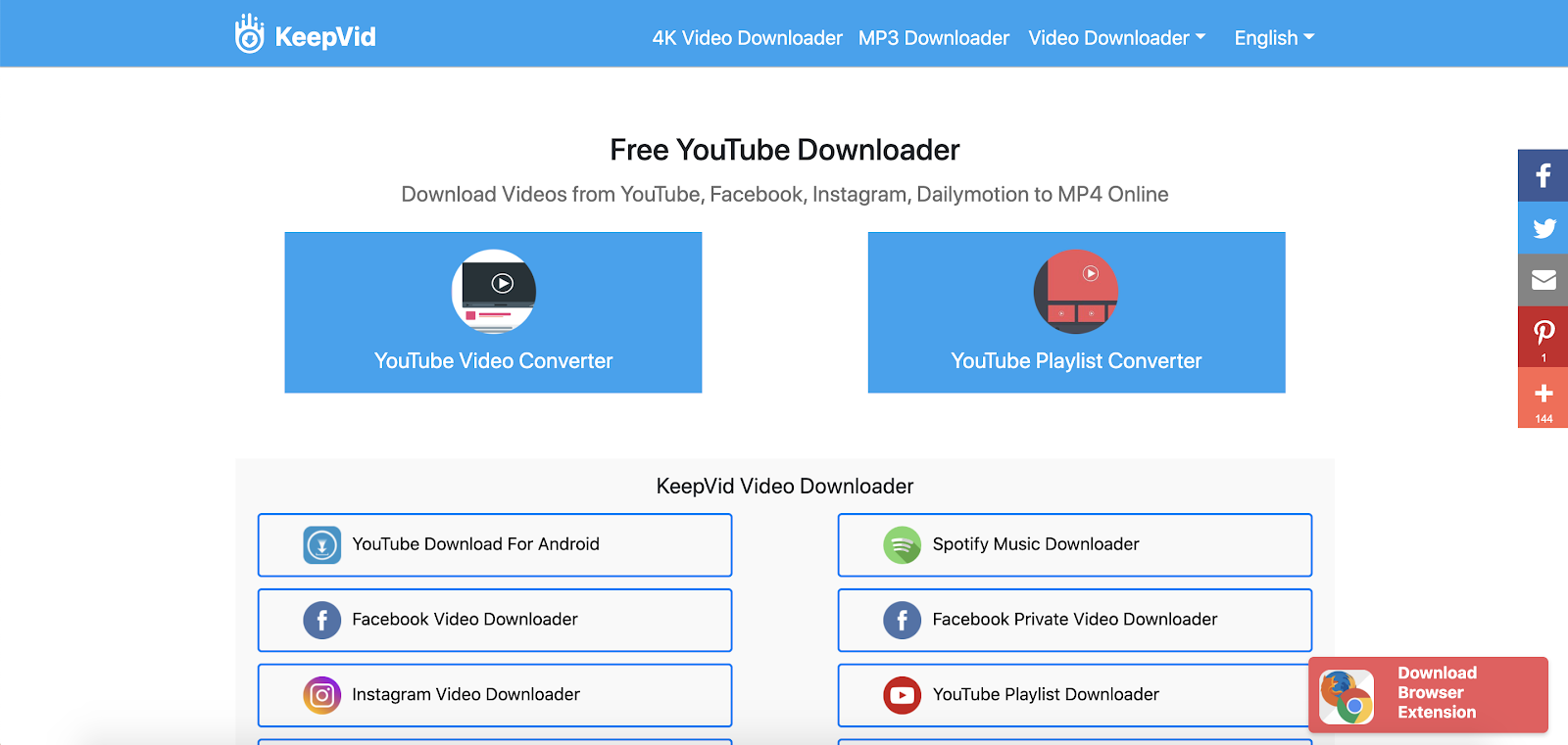 KeepVid Best Top Youtube Downloader