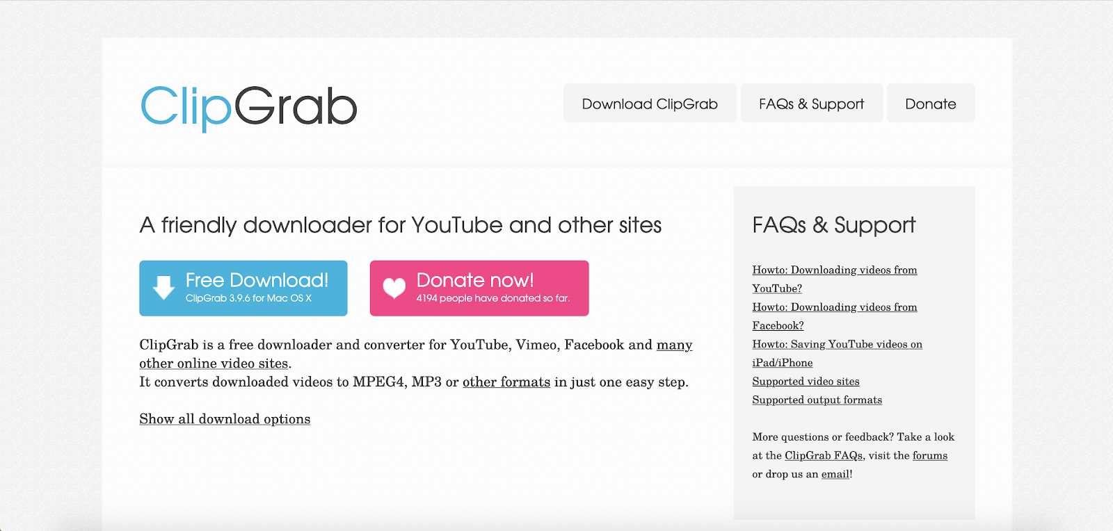 ClipGrab Best Top Youtube Downloader