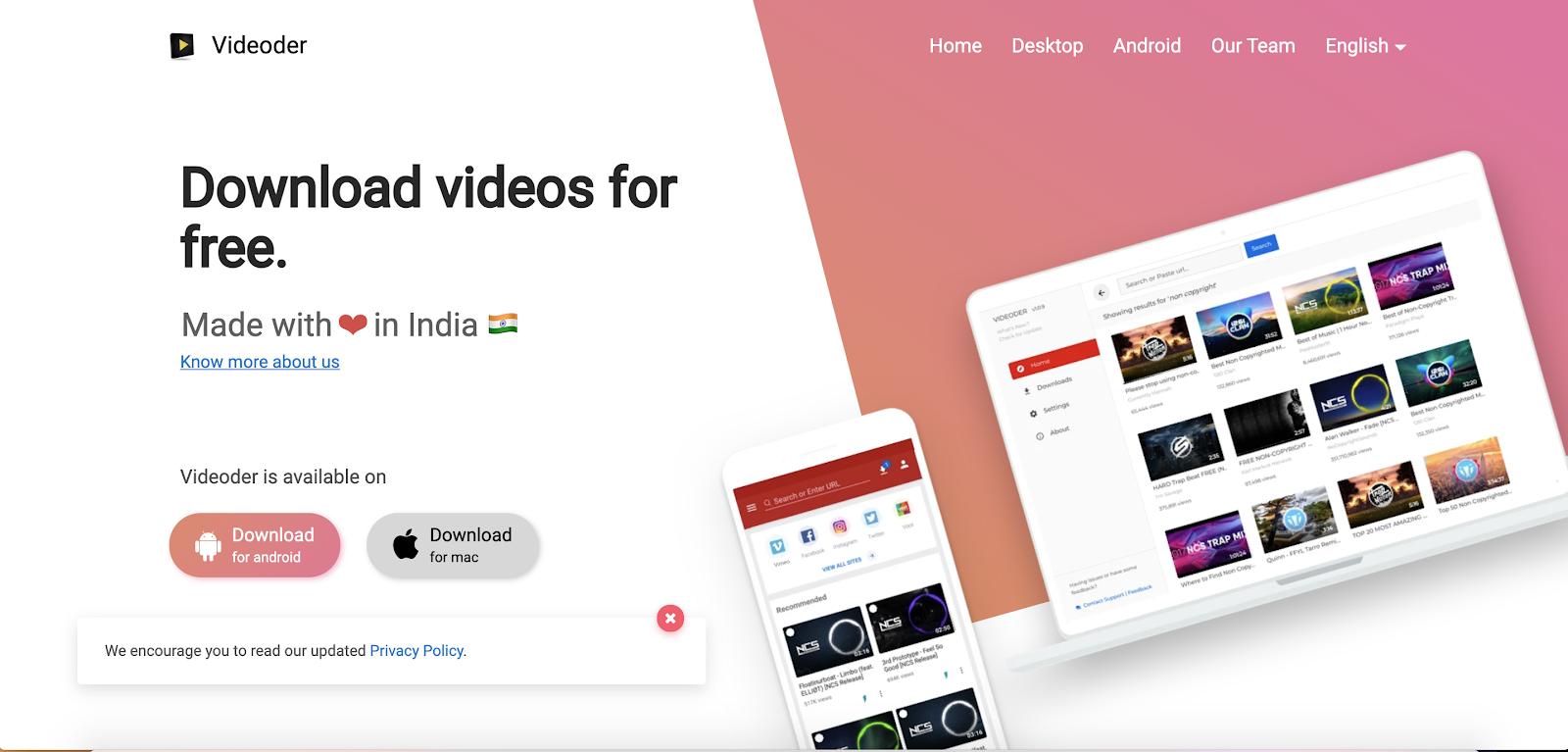 Videoder Best Top Youtube Downloader