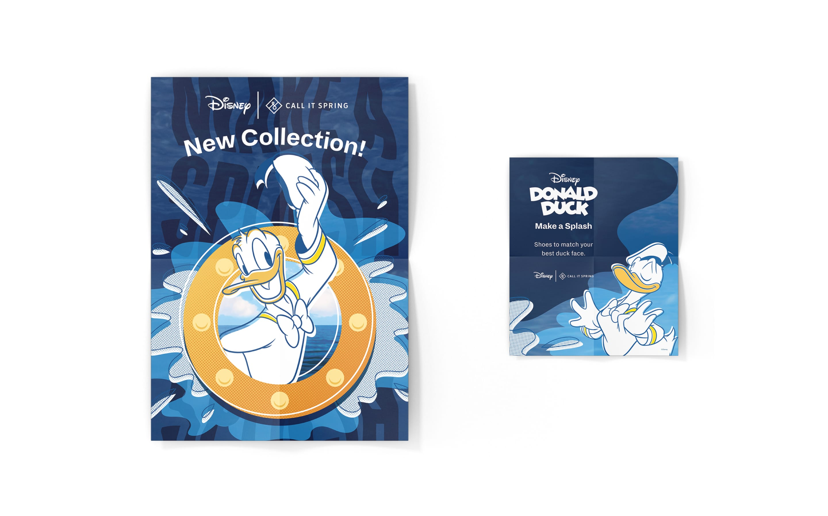 Donald Duck X Call it Spring in-store signage