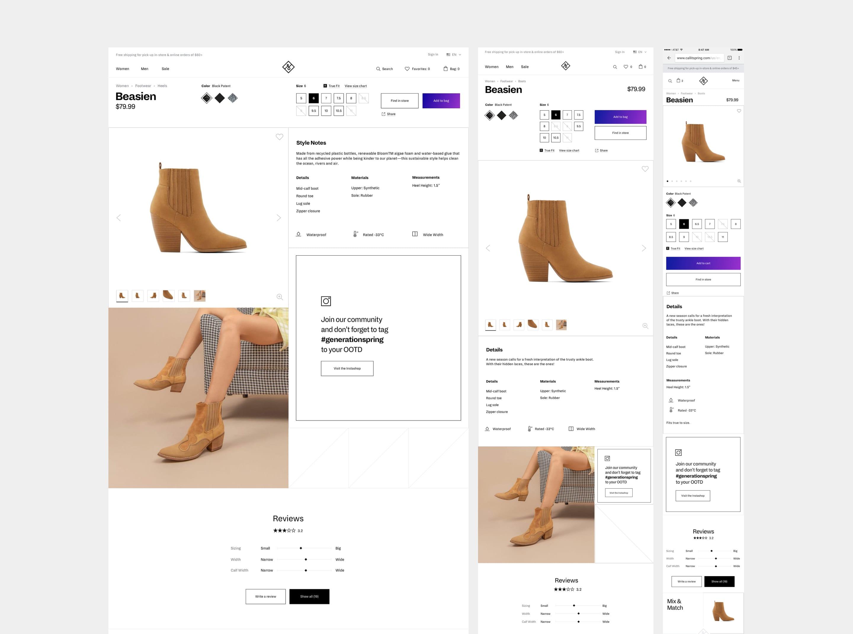 Elegant deterioration of product description pages.
