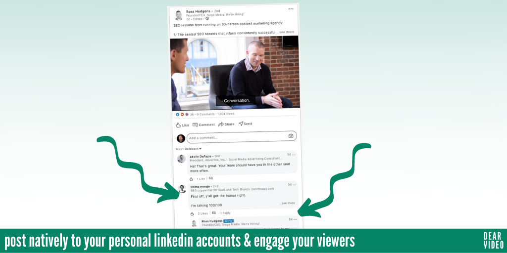 post videos natively on linkedin for engagement