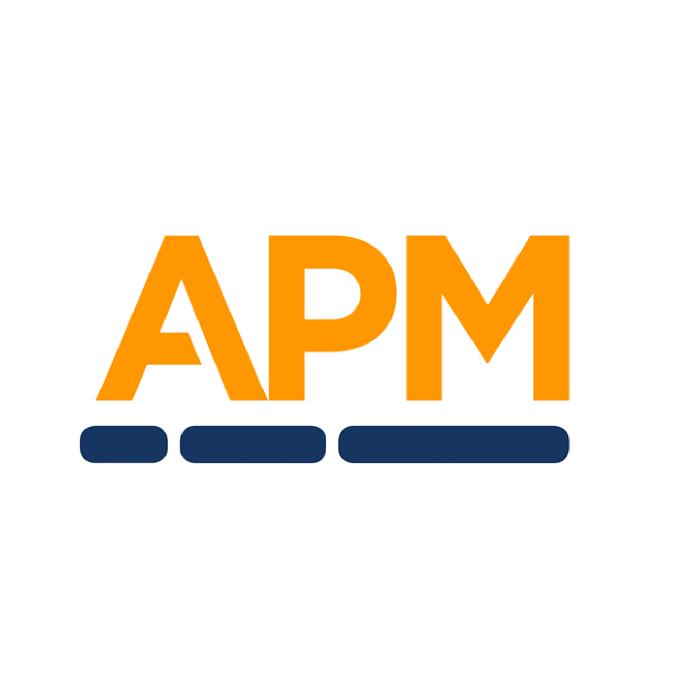 apm logo on white circle