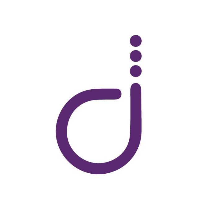 definiti logo on white circle