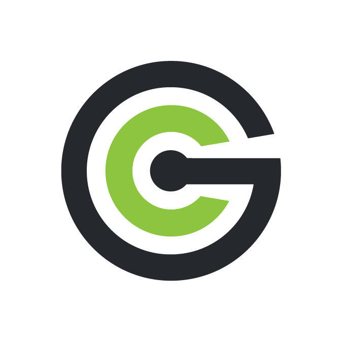 grad connection logo on white circle