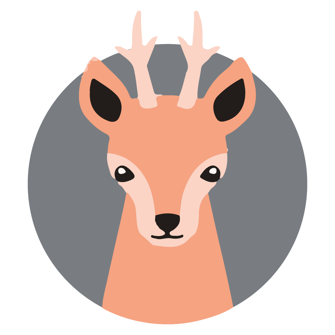 Illustrated deer icon
