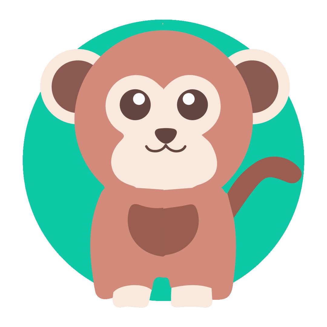 Illustrated monkey icon