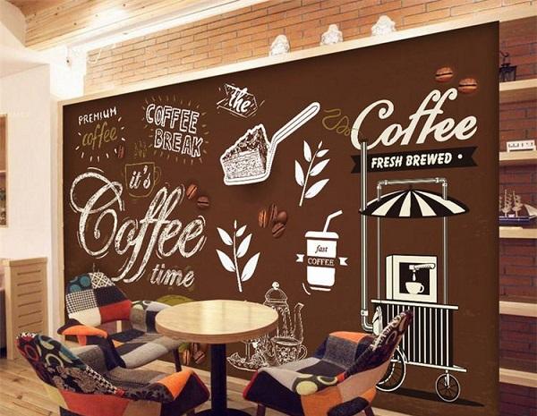 mẫu vẽ tranh tường quán cafe đẹp