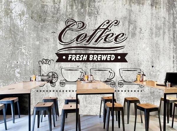 mẫu vẽ tranh tường quán cafe