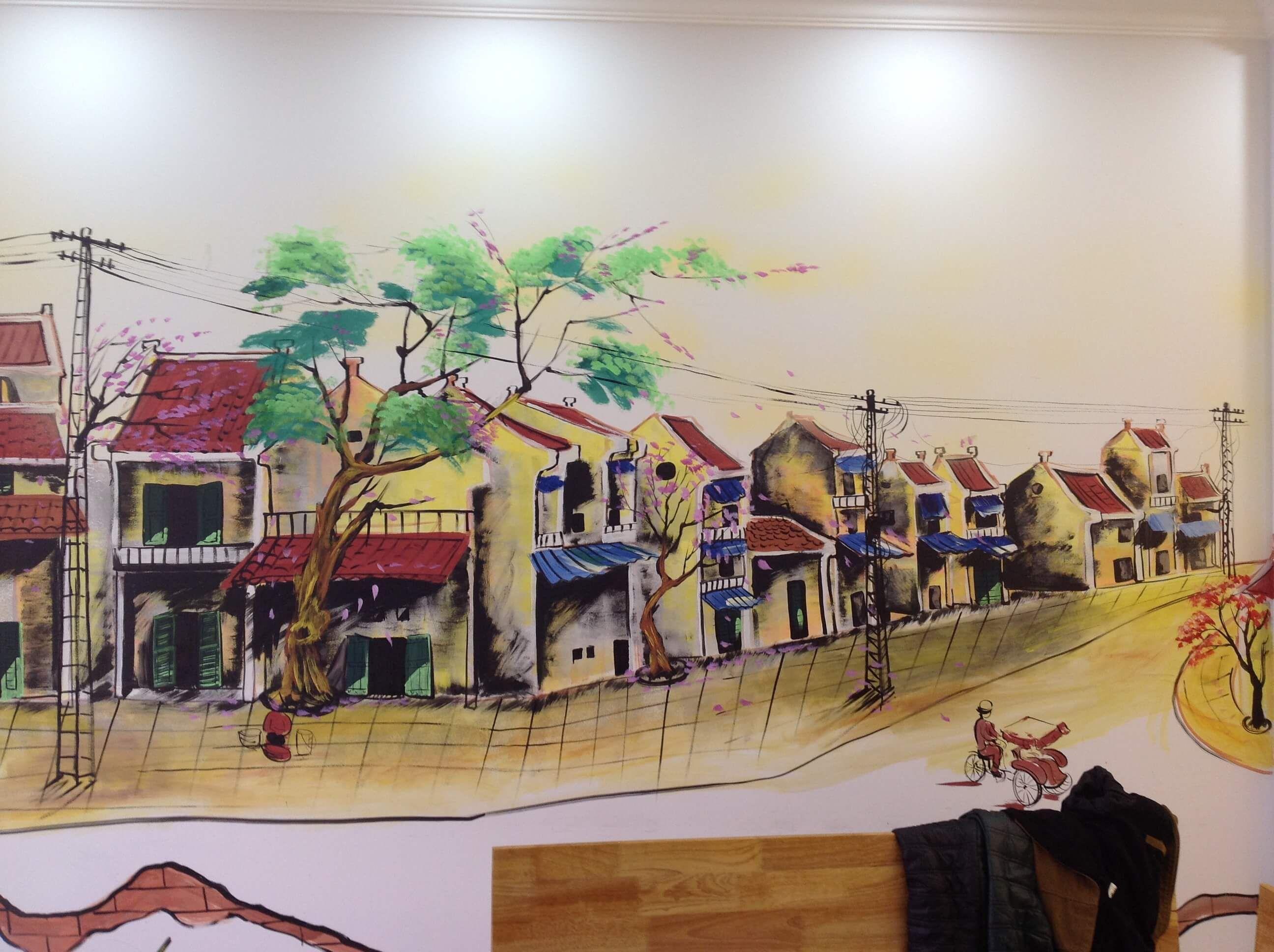 vẽ tranh tường phố cổ