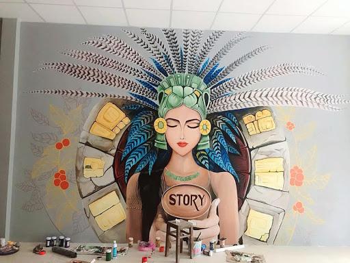 vẽ tranh tường spa