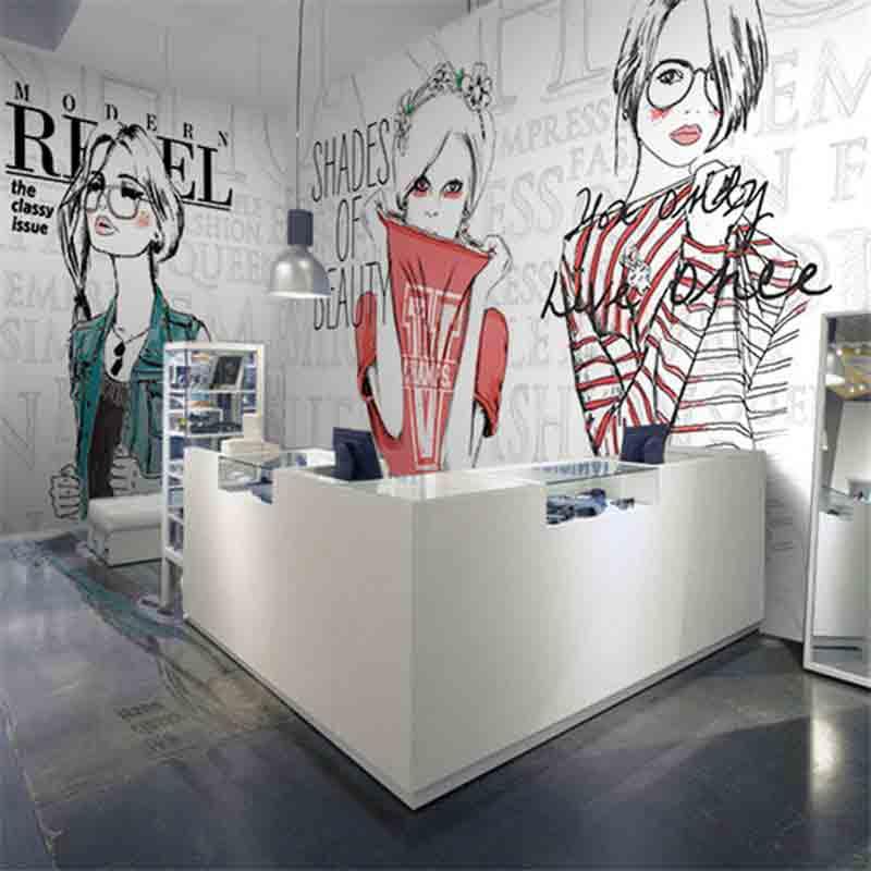 vẽ tranh tường shop quần áo