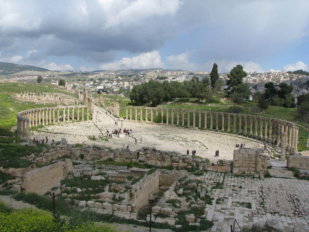 The Forum in Jerash
