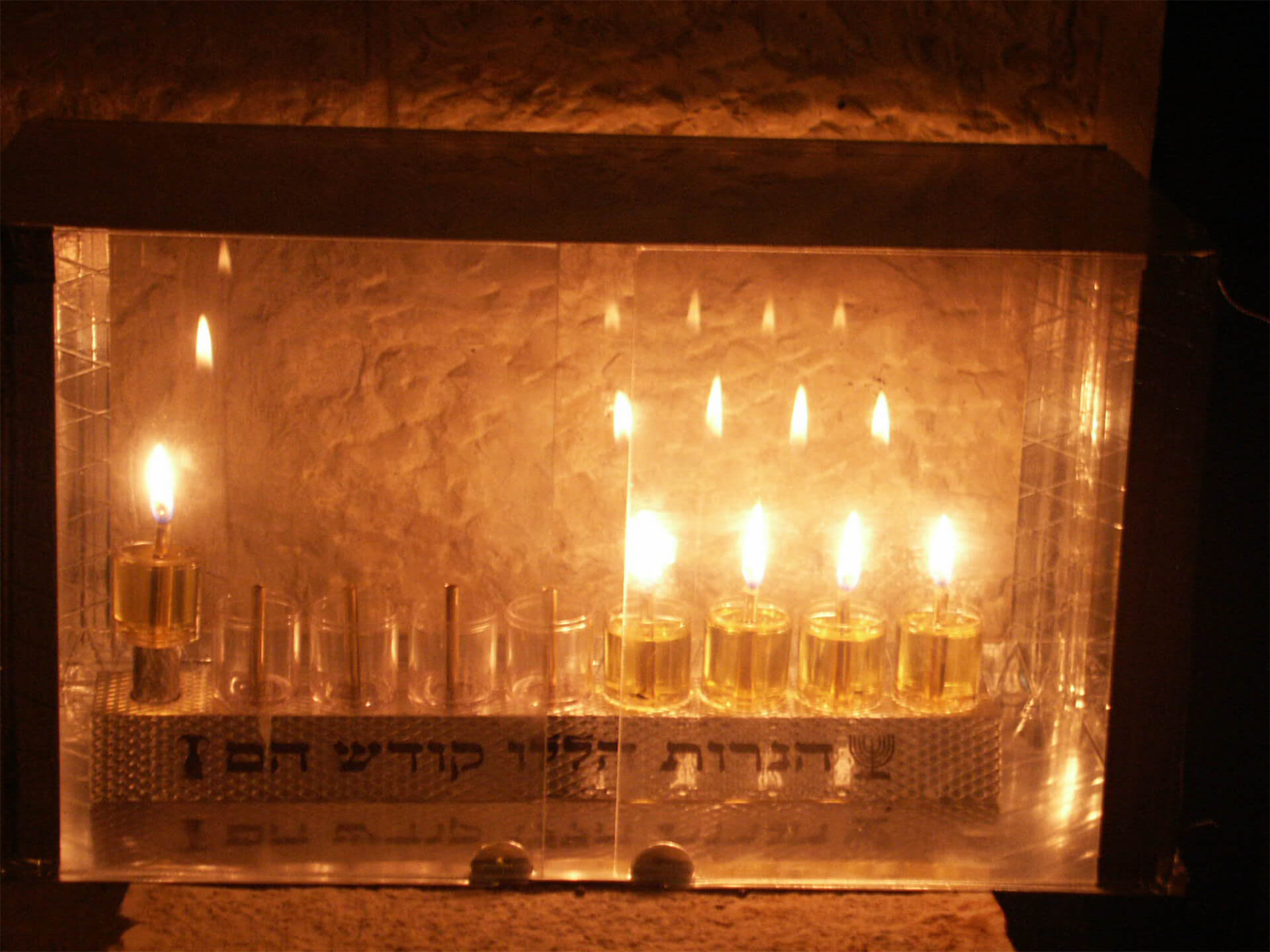 Menorah Candles lighting