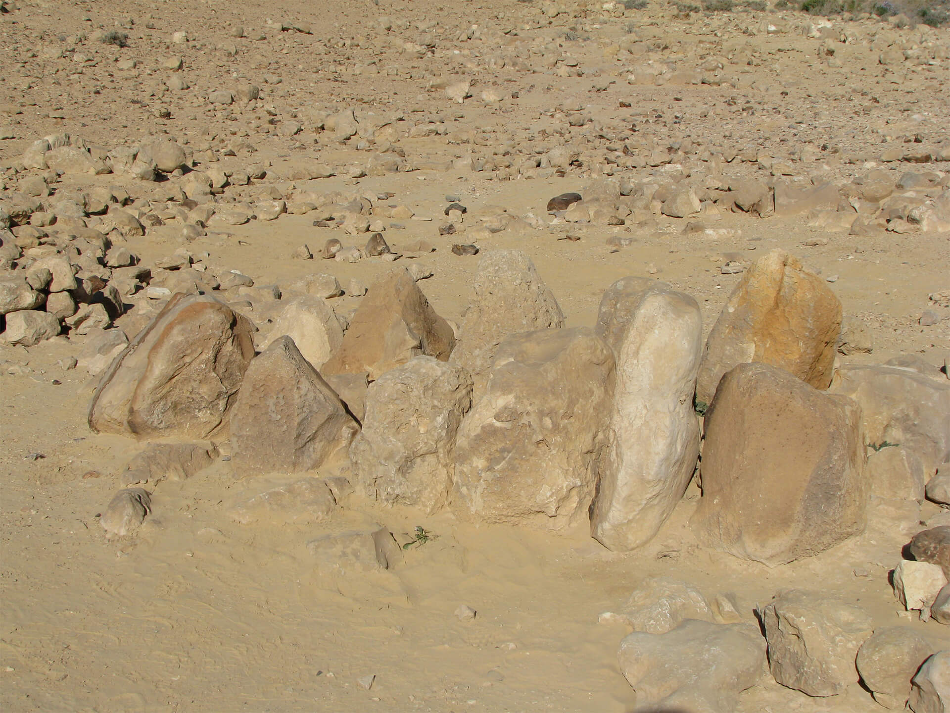 12 unhewn stones