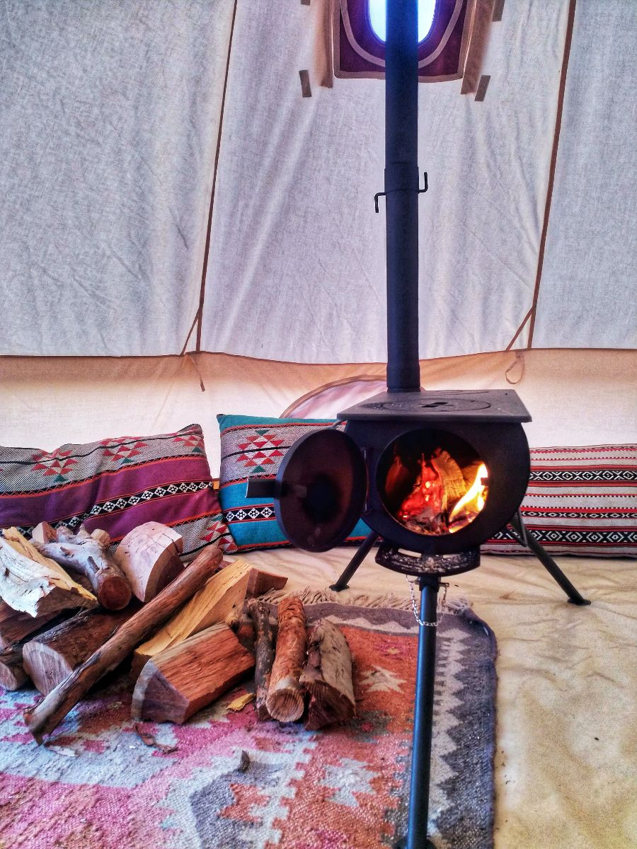 glamping in the winter