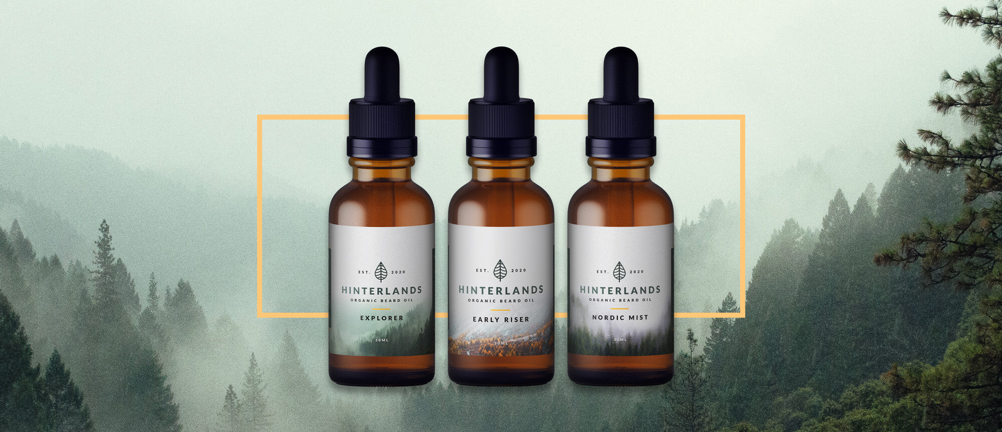hinterlands beard oil products