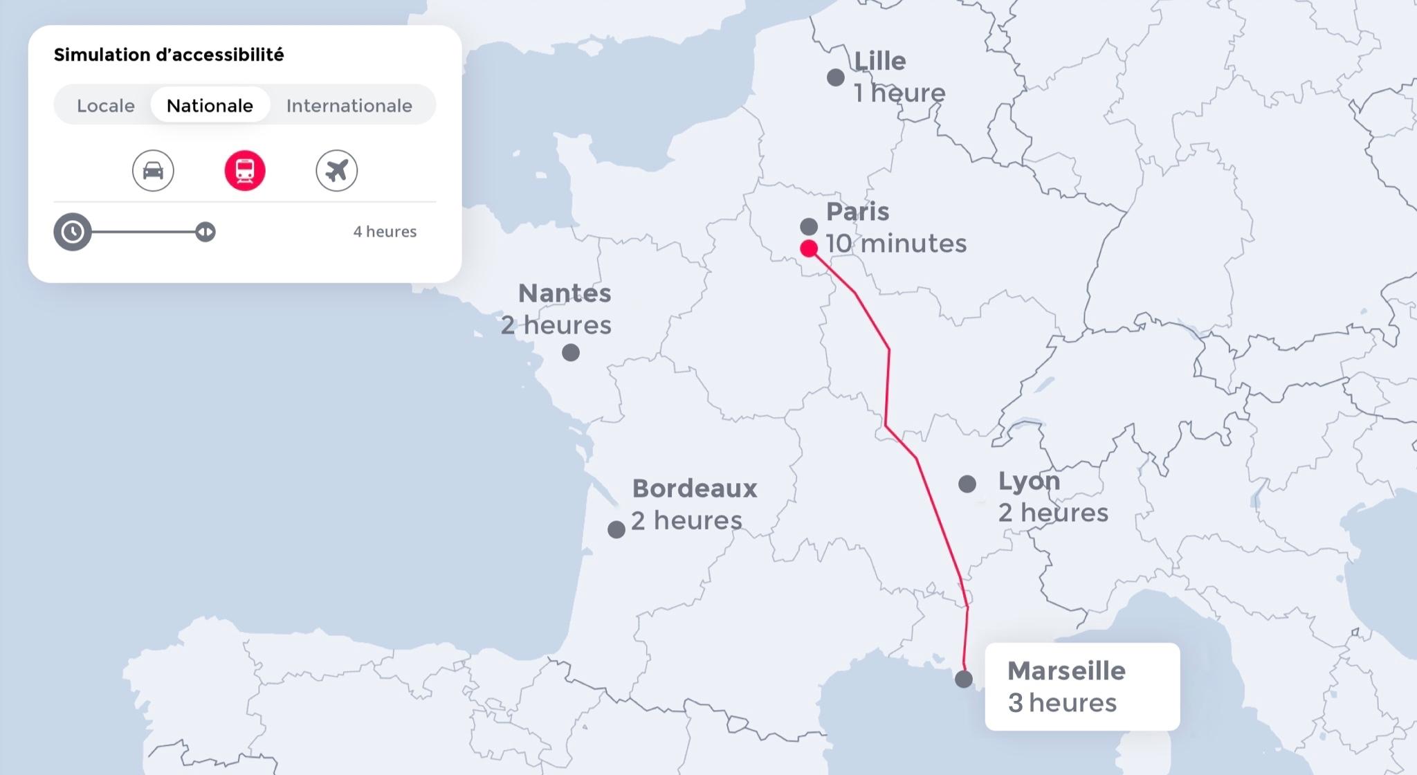 Déplacement Paris - Marseille