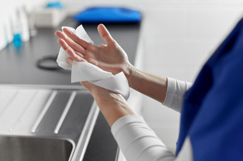 What is the most hygienic way to dry your hands?