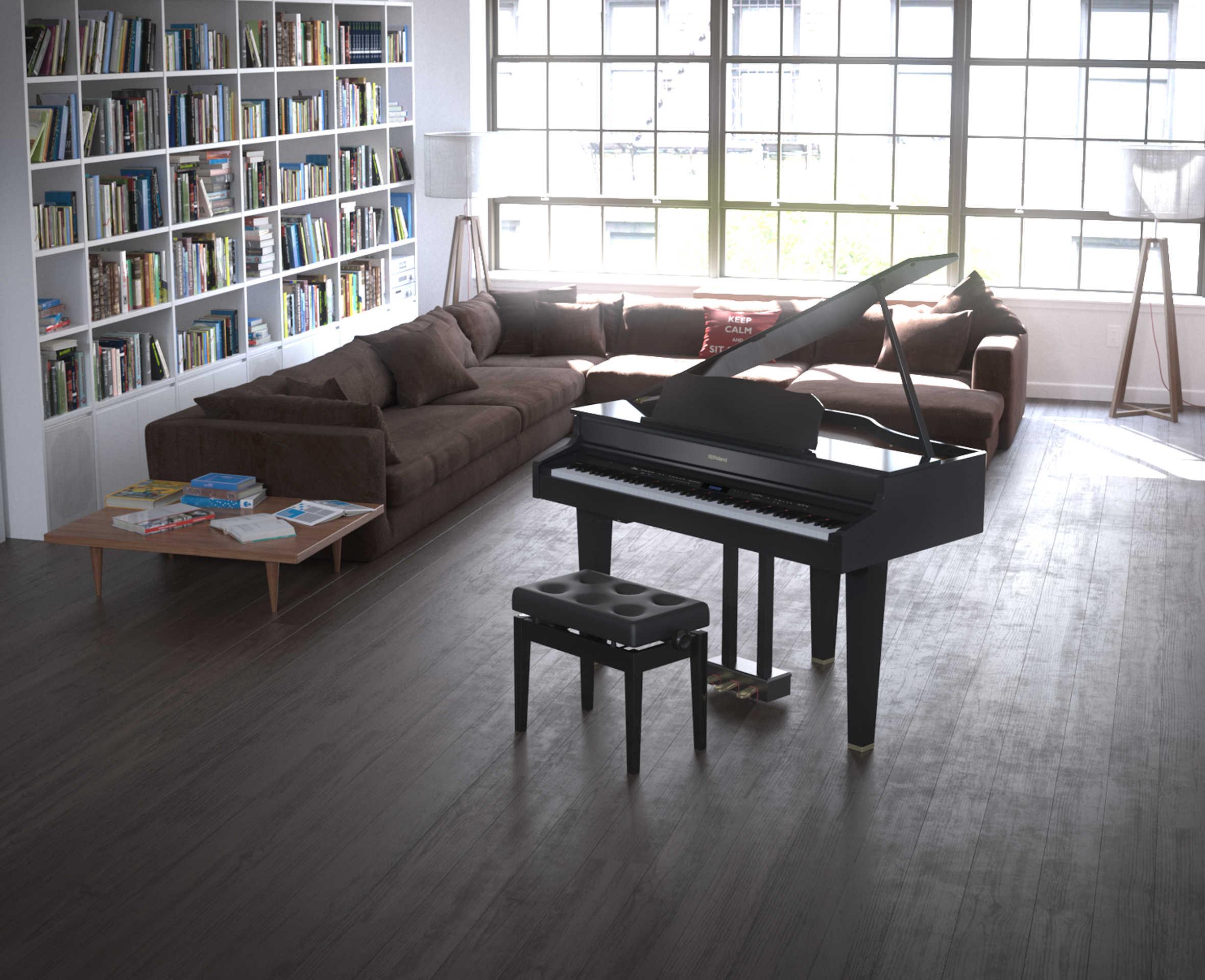 Lx-607 black grand in a room
