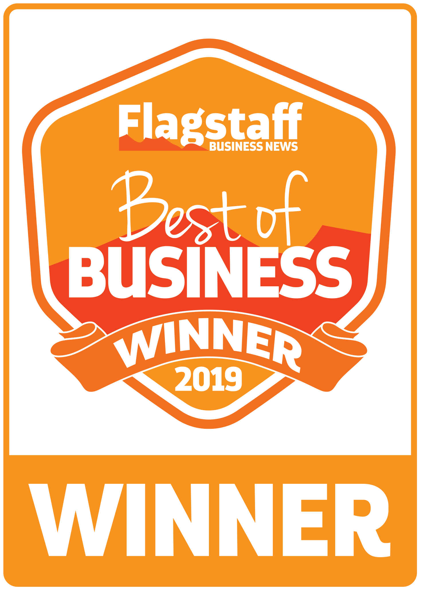 Flagstaff Business News best of Business Winner Award 2019