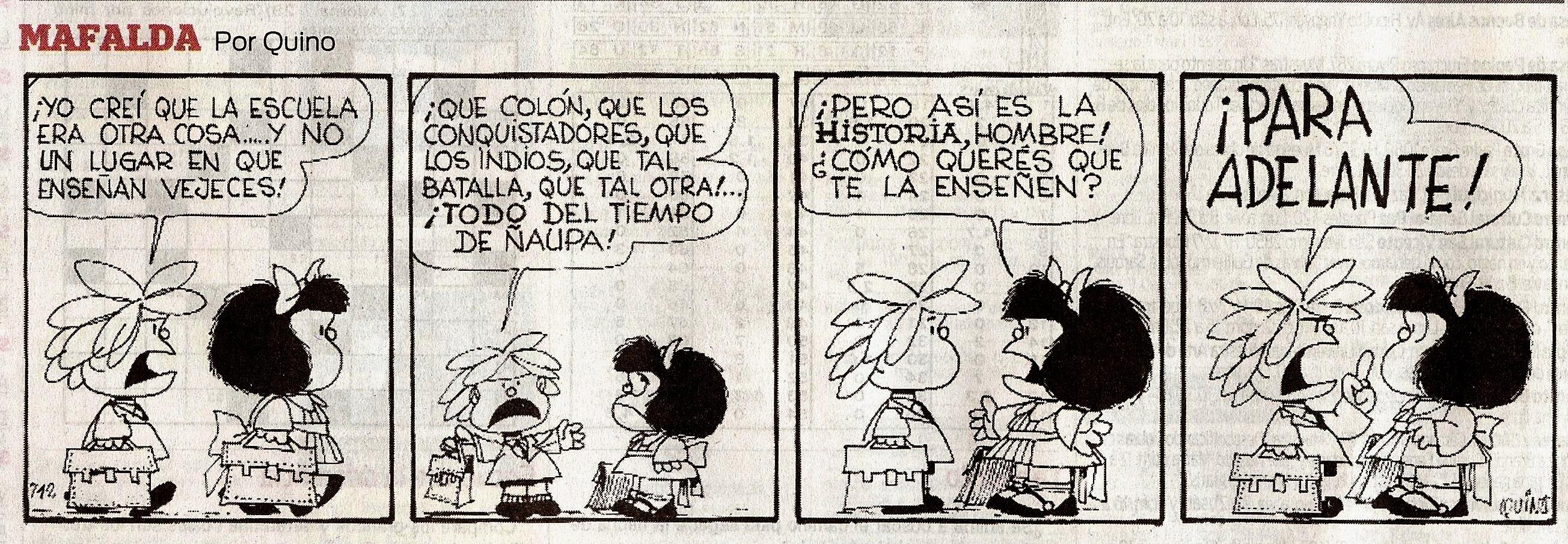 Reflexión sobre el pasado - Mafalda, Por Quino