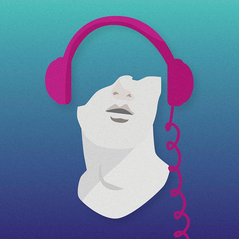 Vaporwave - Ilustración de Marcia Díaz para Revista El Cachaco