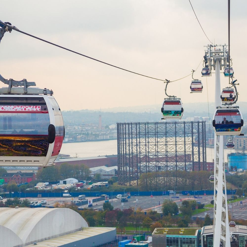 Cable Cars at North Greenwich London