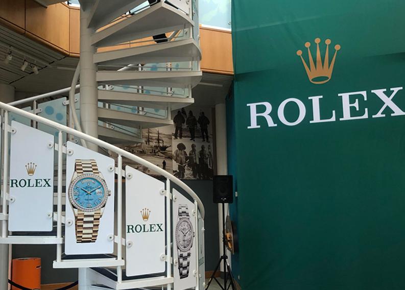 Rolex events display VM&Events