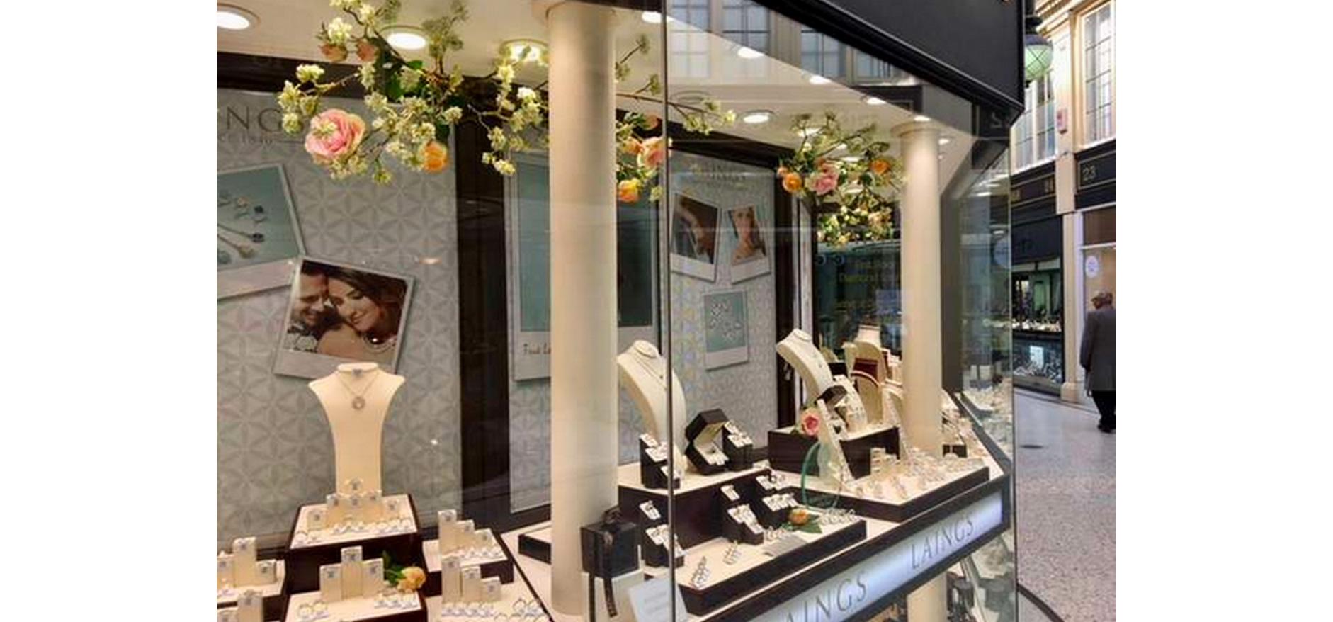 Visual merchandising for jewellery storefront