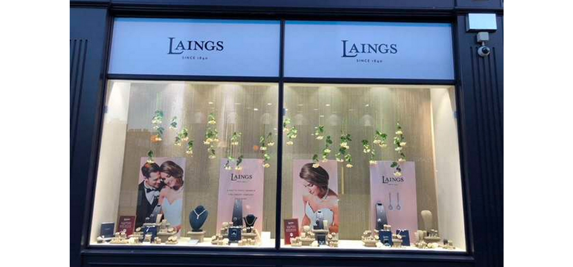Laings visual merchandising and store front