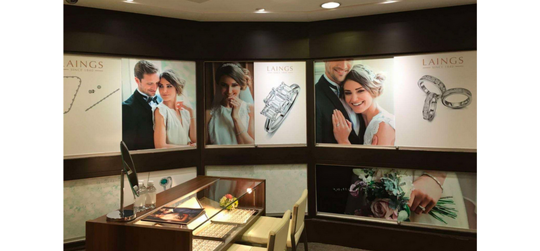 Engagement rings shop displays by VM& Events