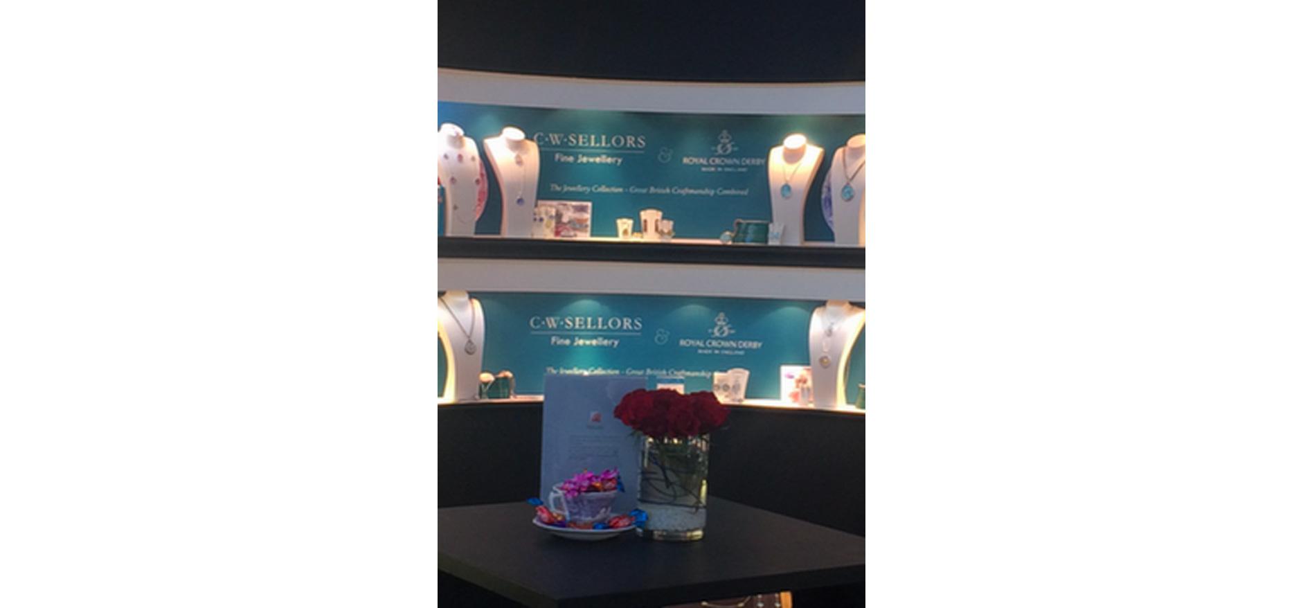 Best floral jewellery visual merchandising displays