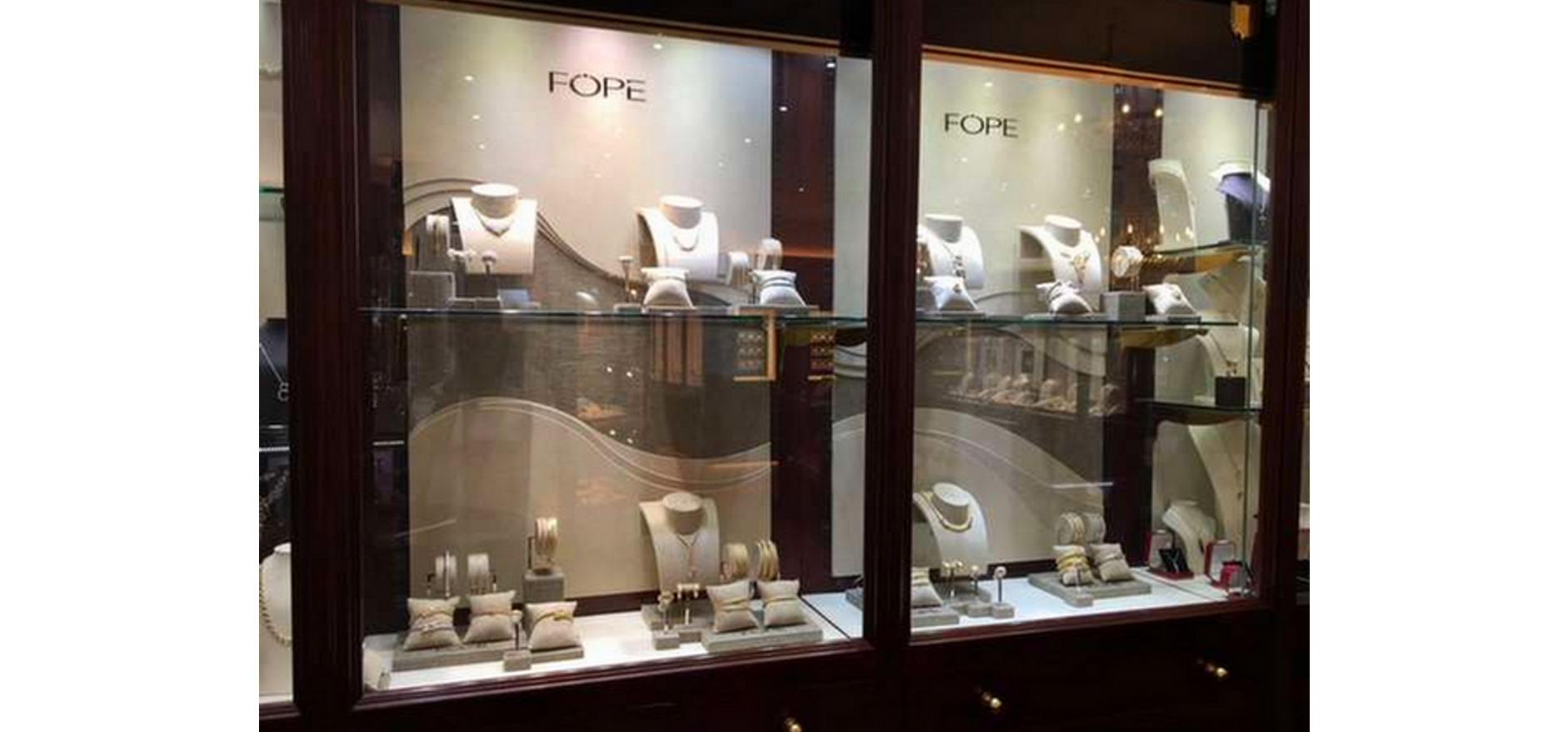 FOPE store displays
