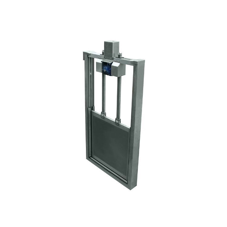 Rubicon's SlipGate product, this is an automated undershot gate that controls flow.